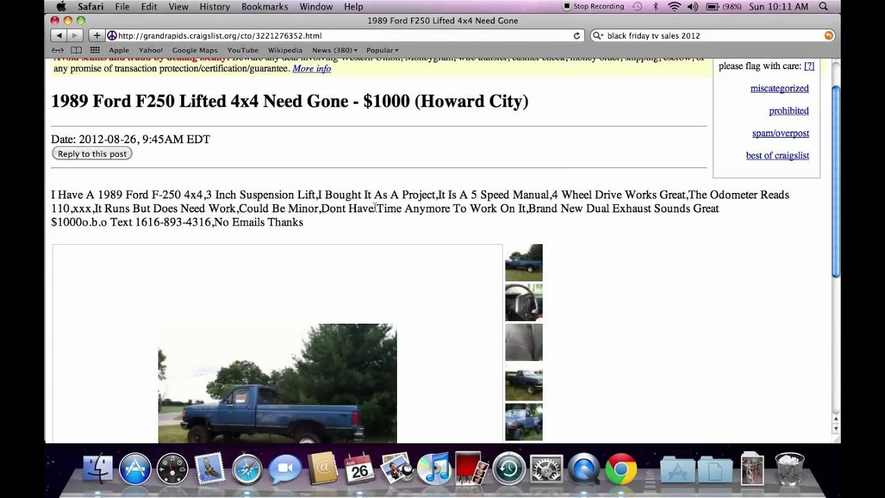 craigslist grand rapids michigan used cars for sale by owner trucks popular in 2012 youtube. Black Bedroom Furniture Sets. Home Design Ideas