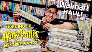 HARRY POTTER HAUL - OPENING 30 SERIES 2 MYSTERY WANDS FROM WALMART