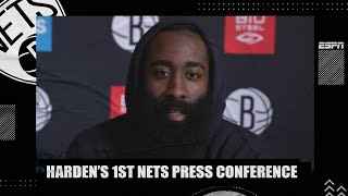 James Harden at first Nets press conference: I meant 'no disrespect' to Rockets | NBA on ESPN