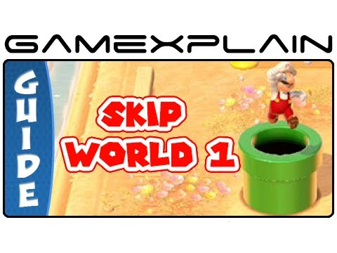 Shortcut To World 2 - Super Mario 3D World's Secret Exit In World 1-2 Guide & Walkthrough - Smashpipe Games Video