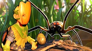 Giant Spiders Attacked Us & It was a Disaster! - Grounded Survival Multiplayer Gameplay