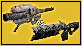 Destiny Rise of Iron: Gjallarhorn vs. Sleeper Simulant - Exotic Weapon Damage Comparison