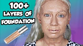 How Many Applications In Urban Decay Liquid Foundation?? 100+ Layers Of Foundation!