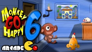 Monkey Go Happy 6 Walkthrough All Levels HD