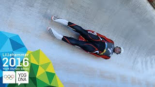 Luge - Kristers Aparjods (LAT) wins Men's gold | Lillehammer 2016 Youth Olympic Games