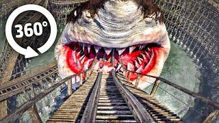 🔴 360° VR Video SHARK Roller Coaster