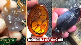 Satisfying Stone Carving and Amazing Rock Sculpting Art with A Dremel