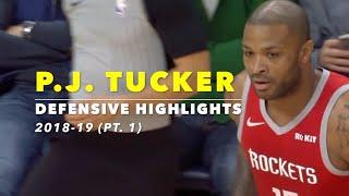 P.J. Tucker Defensive Highlights   2018-19 (Pt. 1)   Houston Rockets