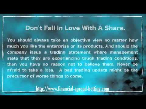 Stop Loss Orders and Spread Betting