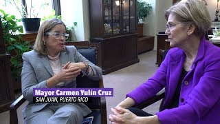 Elizabeth Warren meets with the Mayor of San Juan, Puerto Rico