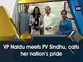 Vice President Venkaiah Naidu meets PV Sindhu, calls her nation's pride