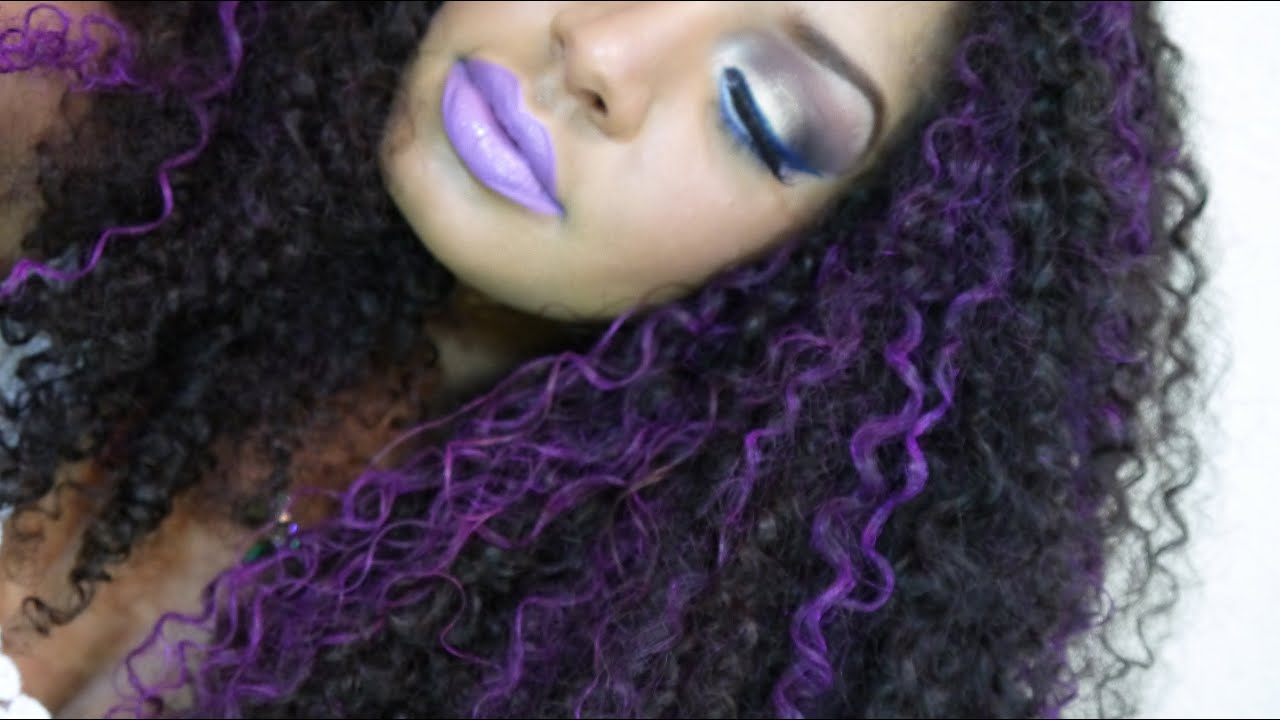 Splat Washables Quot Purple Swag Quot Highlights On Curly Hair