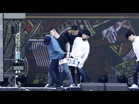161008 DMC festival rehearsal EXO - Lotto (백현 focus)