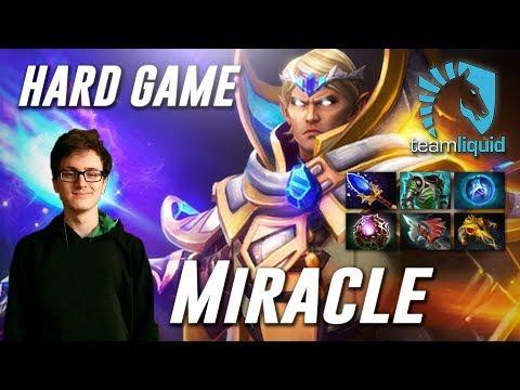 Miracle Hard Game Invoker (feat MagE-) - Dota 2 Pro MMR Gameplay