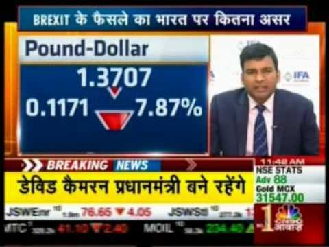 Mr. Abhishek Goenka sharing his expertise on the upshot of BREXIT on CNBC Awaaz- 24 June 2016