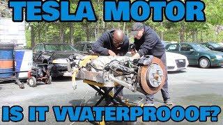 Can You Drown a Tesla Motor?