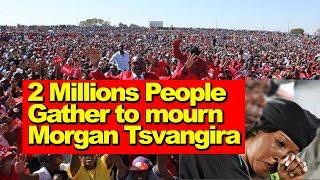 Tsvangirai Funeral Updates, 2 Million Gather to mourn, Watch Video, Zim Latest Breaking News Today