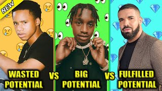 RAPPERS WITH WASTED POTENTIAL VS RAPPERS WITH BIG POTENTIAL VS RAPPERS WITH FULFILLED POTENTIAL