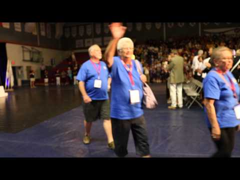 55+ BC Games Athletes of Zone 3 –Fraser Valley at Opening Ceremonies, North Vancouver 2015
