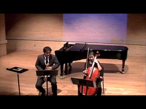 Bid Call for alto saxophone and cello by Libby Larsen-I.Rapidfire
