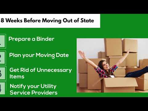 Complete checklist for moving out of state