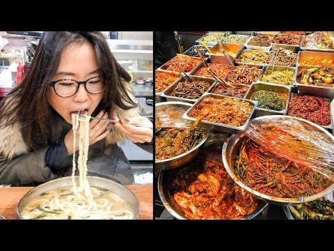 KOREAN STREET FOOD at Mangwon Market in Seoul