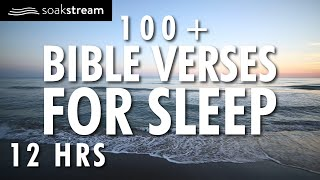 Bible Verses For Sleep | 100+ Healing Scriptures with Soaking Music | Audio Bible | 12 HRS (2020)