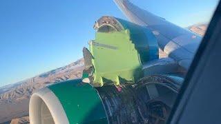 Plane Engine Explodes After Takeoff