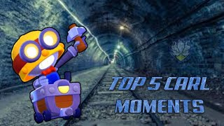 Brawl Stars Top 5 Best Carl Moments 300 IQ Lucky & Funny Moments Compilation:Montage