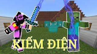 Cách Chế Tạo Thanh Kiếm Sấm Sét Trong Minecraft