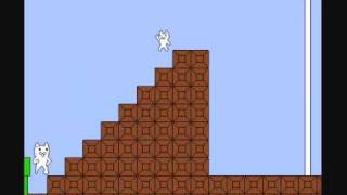 Beating syobon action all 4 stages (cat mario)
