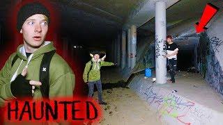 LOST in Haunted DIABLO'S DEN at Night (Rocks Thrown)