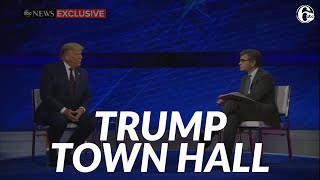 President Trump faces uncommitted voters during ABC News town hall in Philadelphia