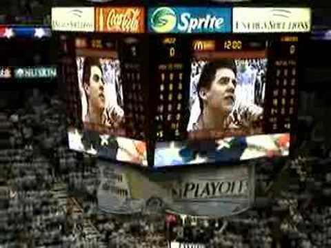 David Archuleta sings the National Anthem at the Jazz Game