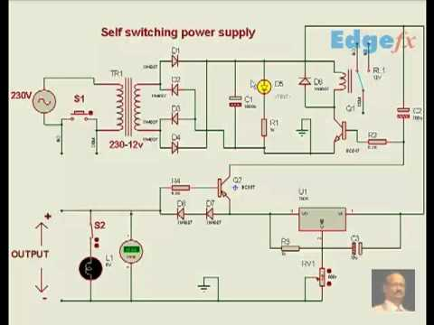 Free Circuit Diagrams Self Switching Power Supply Youtube