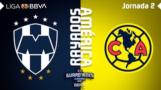 Resumen   Rayados vs América   Liga BBVA MX - Guard1anes 2021 - Jornada 2