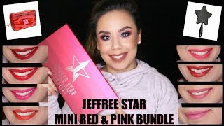 Jeffree Star Red & Pink Lip Set | Love Sick Collection | Live Lip Swatches