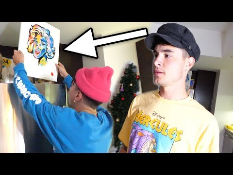 I STOLE BEST FRIEND'S PAINTING PRANK!! (SORRY)