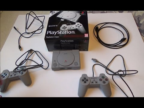 video Playstation Classic Console PS1 , Gray