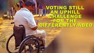 Poll booth on 1st floor: Uphill challenge for Assam disabled man