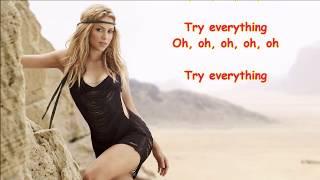 Shakira - Try Everything (Lyrics) 😘😘😘 Ana's Lyrics