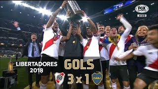 River Plate 3 x 1 Boca Juniors - Final Libertadores 2018 - Fox Sports HD⁶⁰