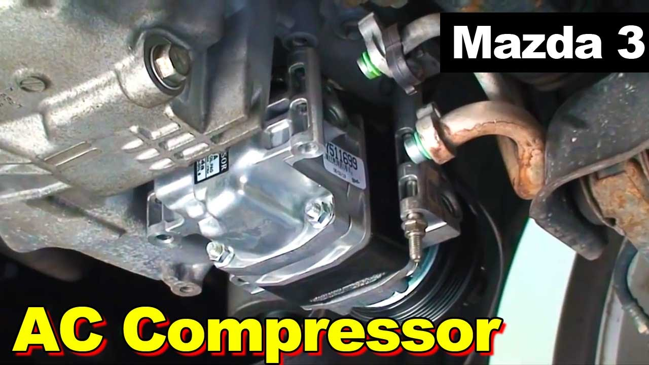 2009 Mazda 3 Ac Compressor Replacement Youtube