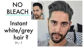 Instant Grey/ White Hair. No Bleach?! (Coloured wax product review/ tutorial) 2016 ✖ James Welsh