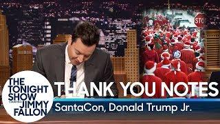 Thank You Notes: SantaCon, Donald Trump Jr.