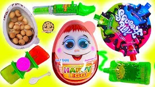 Crazy Weird Candy Haul Video - Surprise Happy Egg , Sour Juicy Drops + More