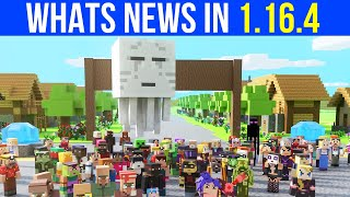 Whats New In Minecraft 1.16.4 Java Edition?