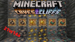 Minecraft FORTUNE IRON, GOLD and COPPER snapshot 21w14a