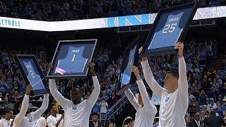 UNC Men's Basketball: 2018 Senior Class Honored Pregame