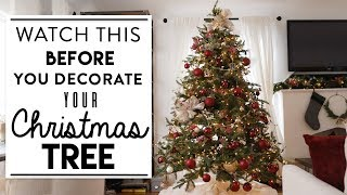 CHRISTMAS TREE DECORATING | Watch This BEFORE You Decorate Your Tree